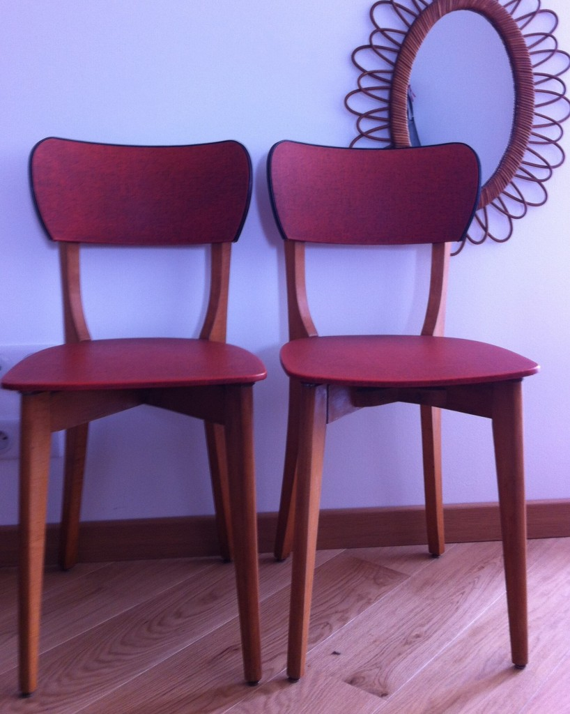 Chaises design scandinave «Marcel et Marcelle»