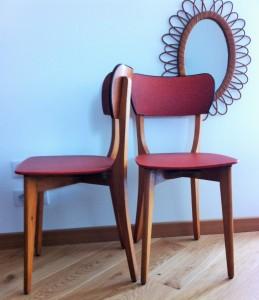 paire de chaises vintages Marcelle 1