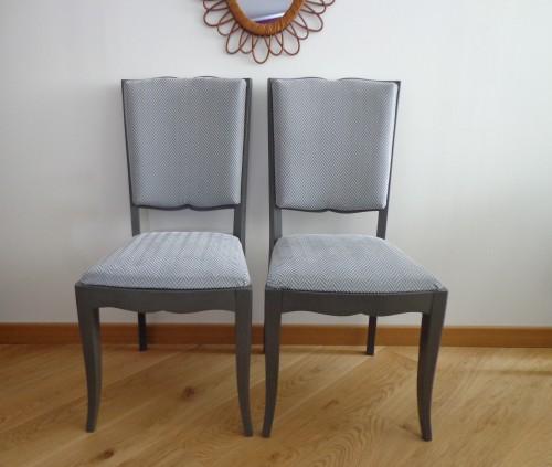 Paire de chaises «forme moustache «Augustine»