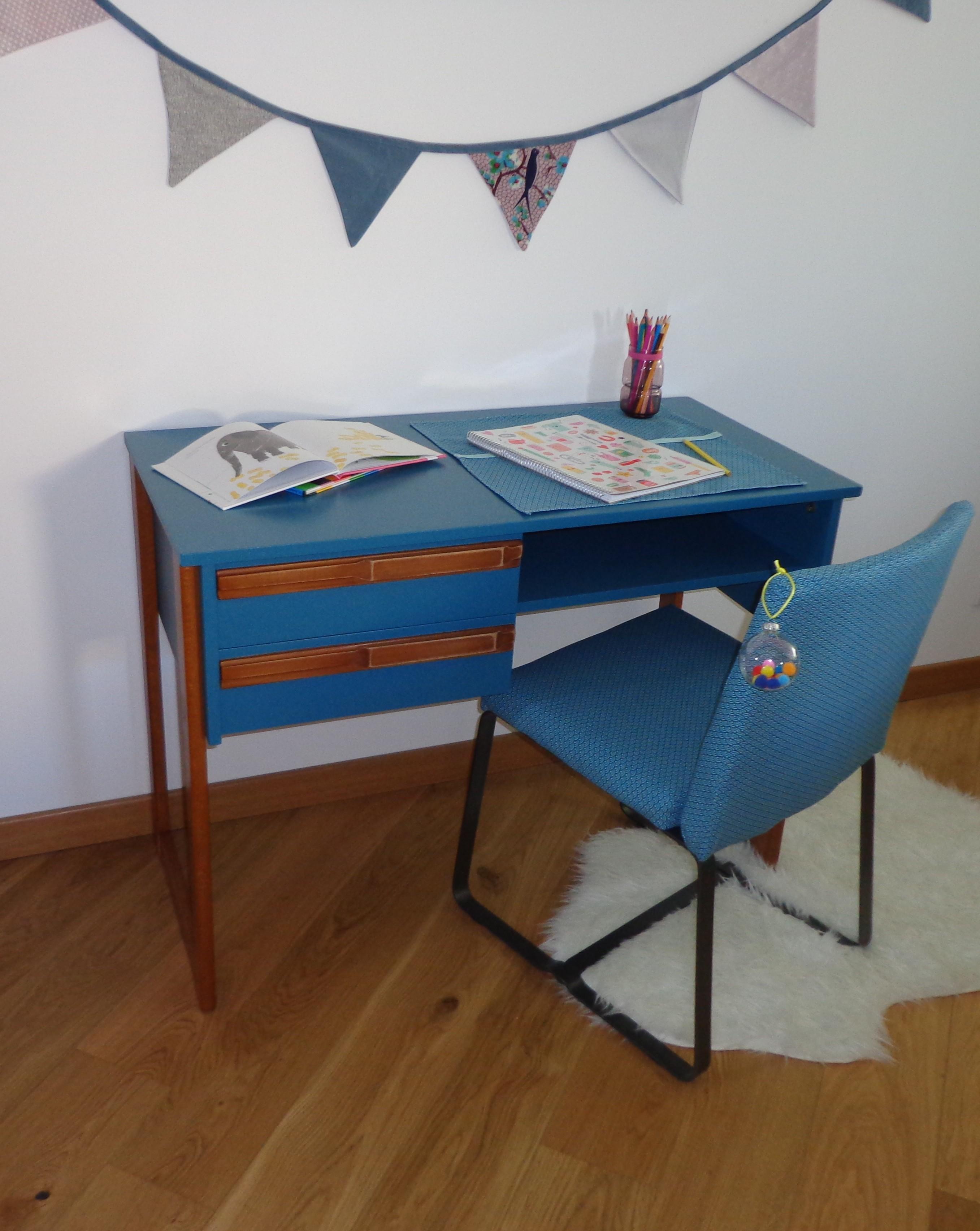 Bureau vintage et sa chaise «Gaspard»