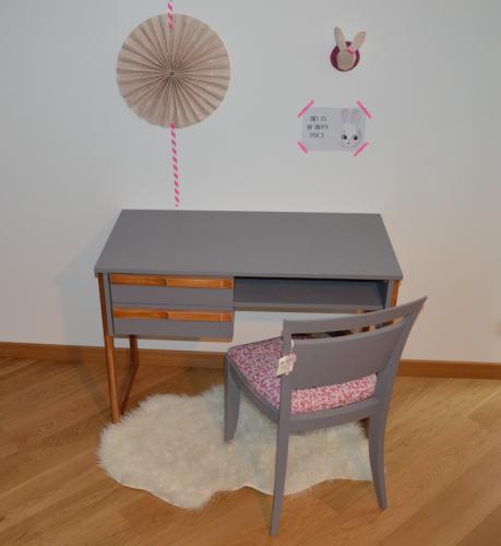 Bureau et chaise vintages «Margaux»