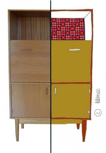 meuble vintage à personaliser