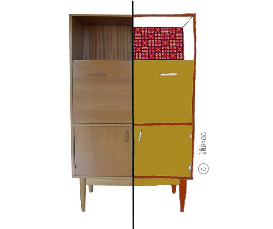 Meubles vintage personnalis s relooking de meubles lilibroc - Relooking meuble vintage ...