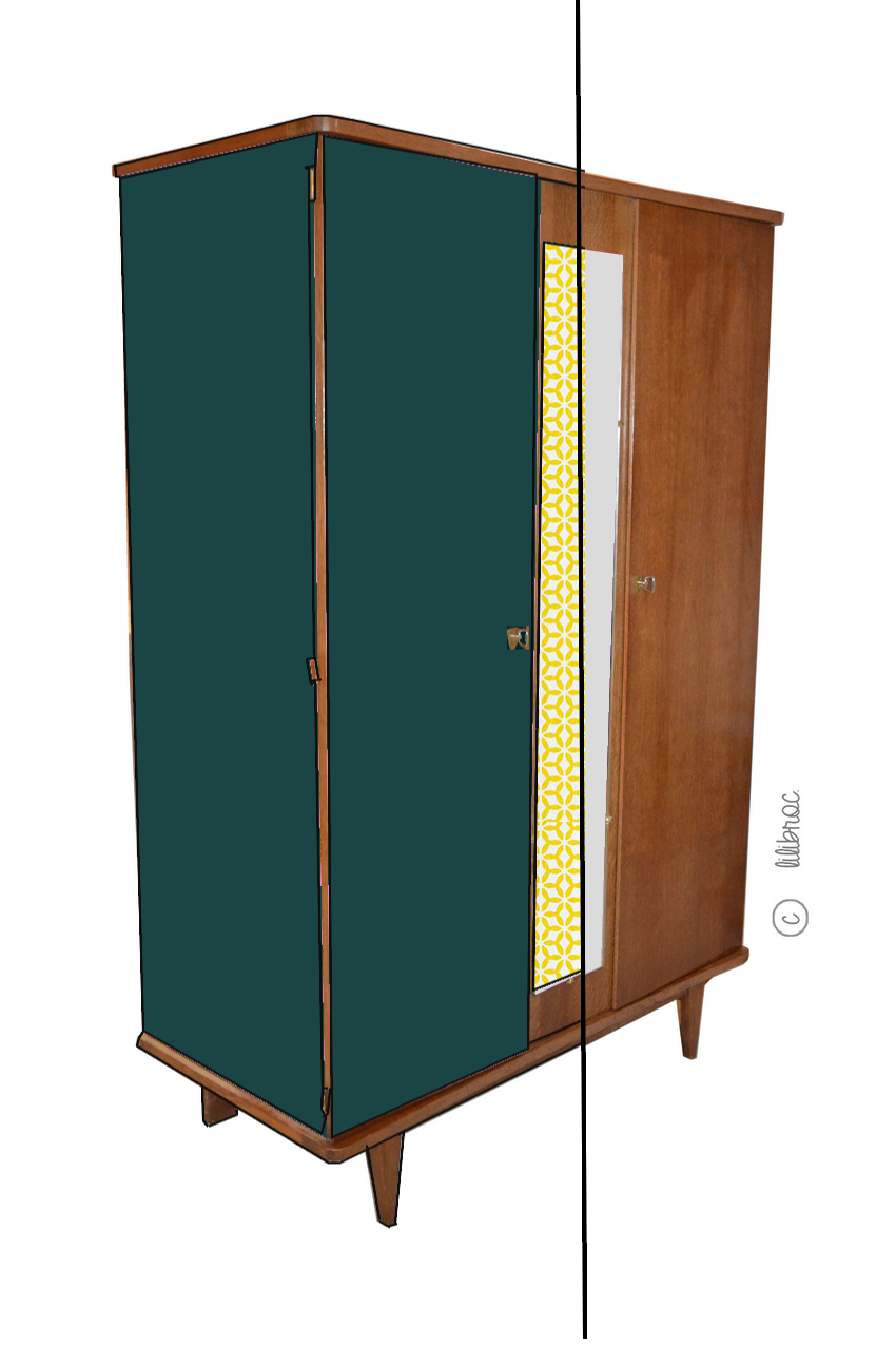 Armoire vintage « Suzanne » avant relooking