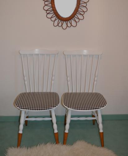 chaises vintage noir et blanc 4
