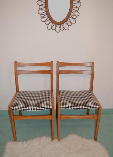 chaises vintage  noir et blanc 5