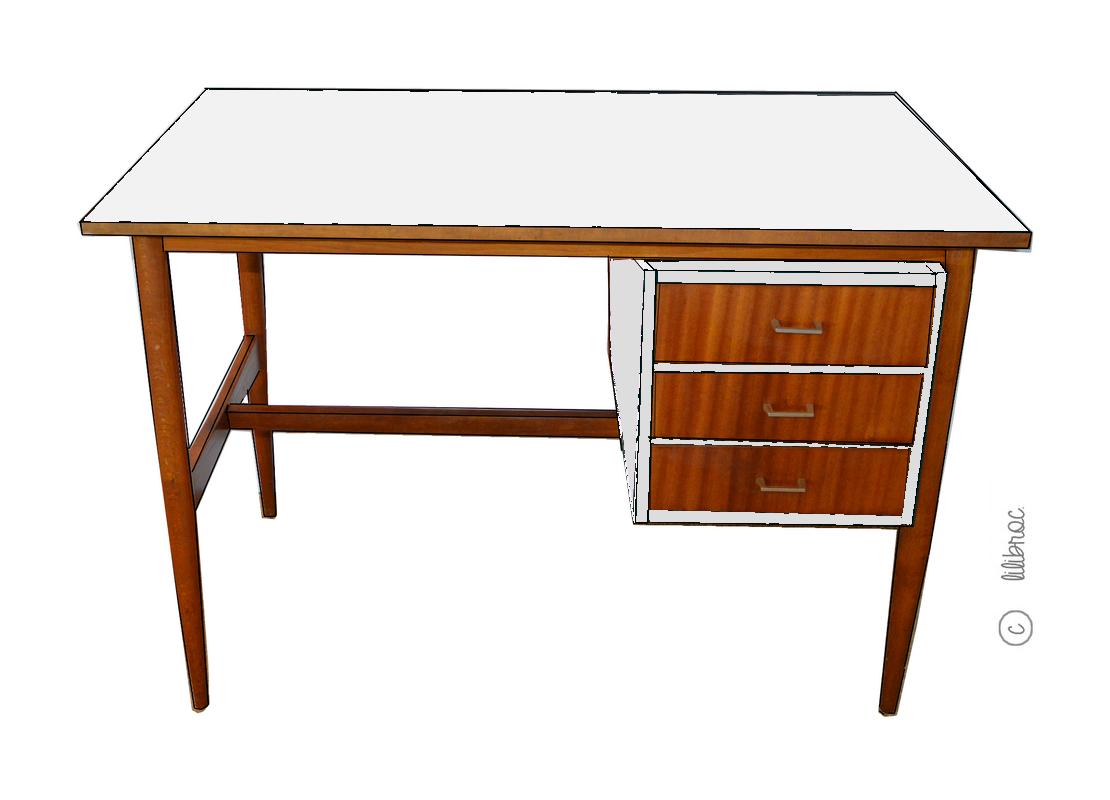bureau vintage z phir croquis de relooking. Black Bedroom Furniture Sets. Home Design Ideas