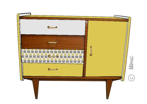 Buffet vintage octave croquis 4