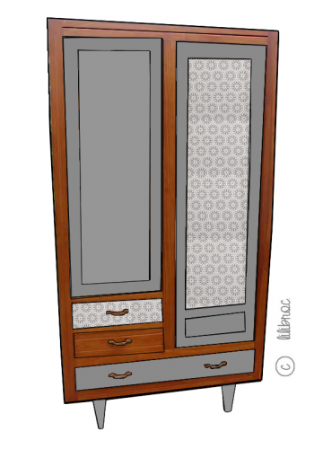 "Armoire scandinave ""Charlotte"""