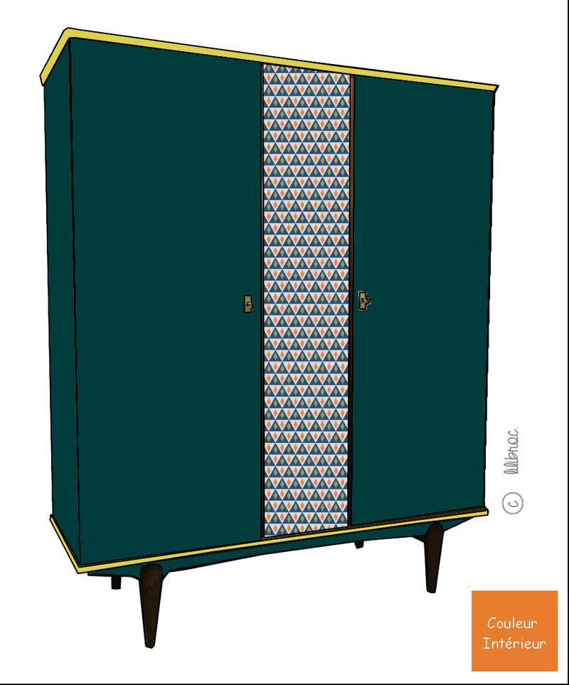 Armoire vintage Lucie – Croquis de relooking