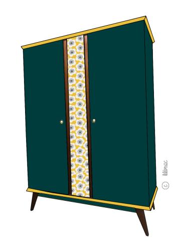 Armoire vintage Zélie croquis 4