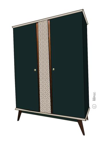 Armoire vintage Zélie croquis 6