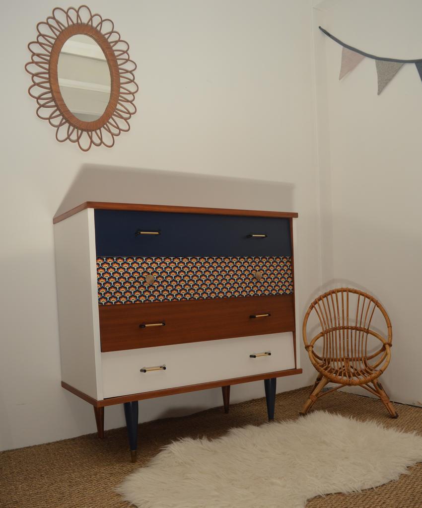 commode vintage p tronille meubles vintage restaur s lilibroc. Black Bedroom Furniture Sets. Home Design Ideas