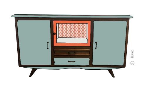 Buffet vintage Martin – Croquis de relooking