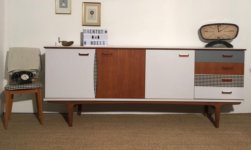 enfilade scandinave garance relooking de meubles par lilibroc. Black Bedroom Furniture Sets. Home Design Ideas