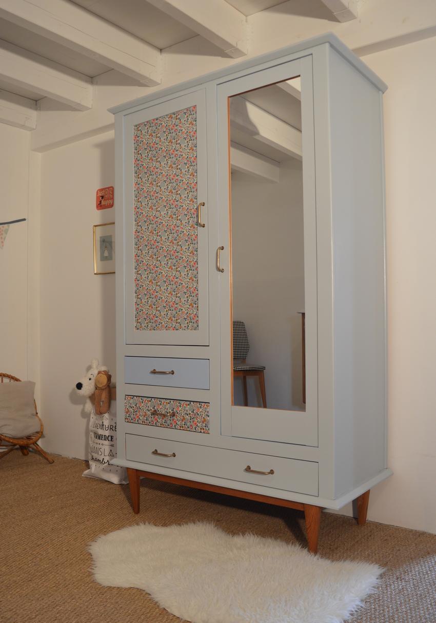 armoire vintage armance relooking de meubles lilibroc. Black Bedroom Furniture Sets. Home Design Ideas