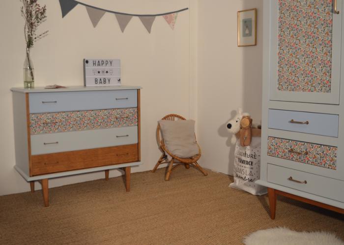 Chambre bébé vintage Anselme et Armance