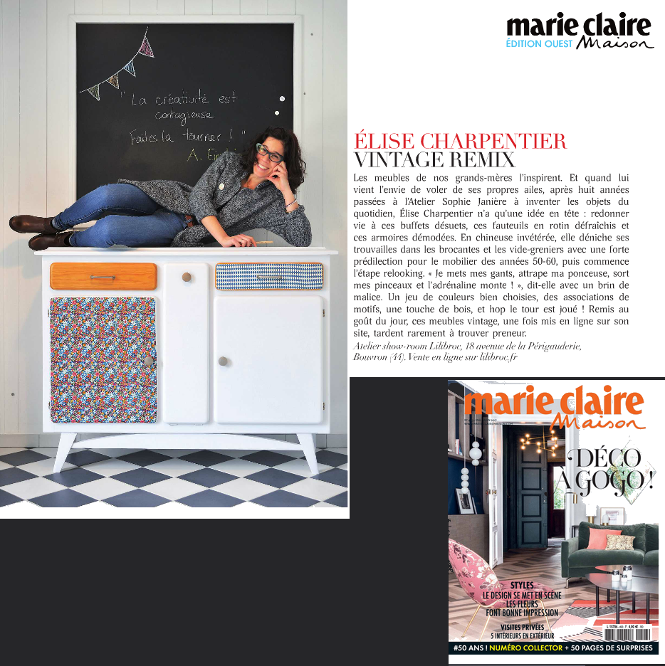 on parle de lilibroc dans marie claire maison. Black Bedroom Furniture Sets. Home Design Ideas