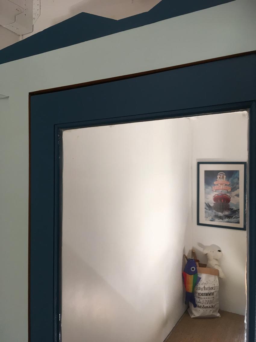 Chambre Bleu Canard Jaune : Armoire vintage eliott meuble relooké par lilibroc
