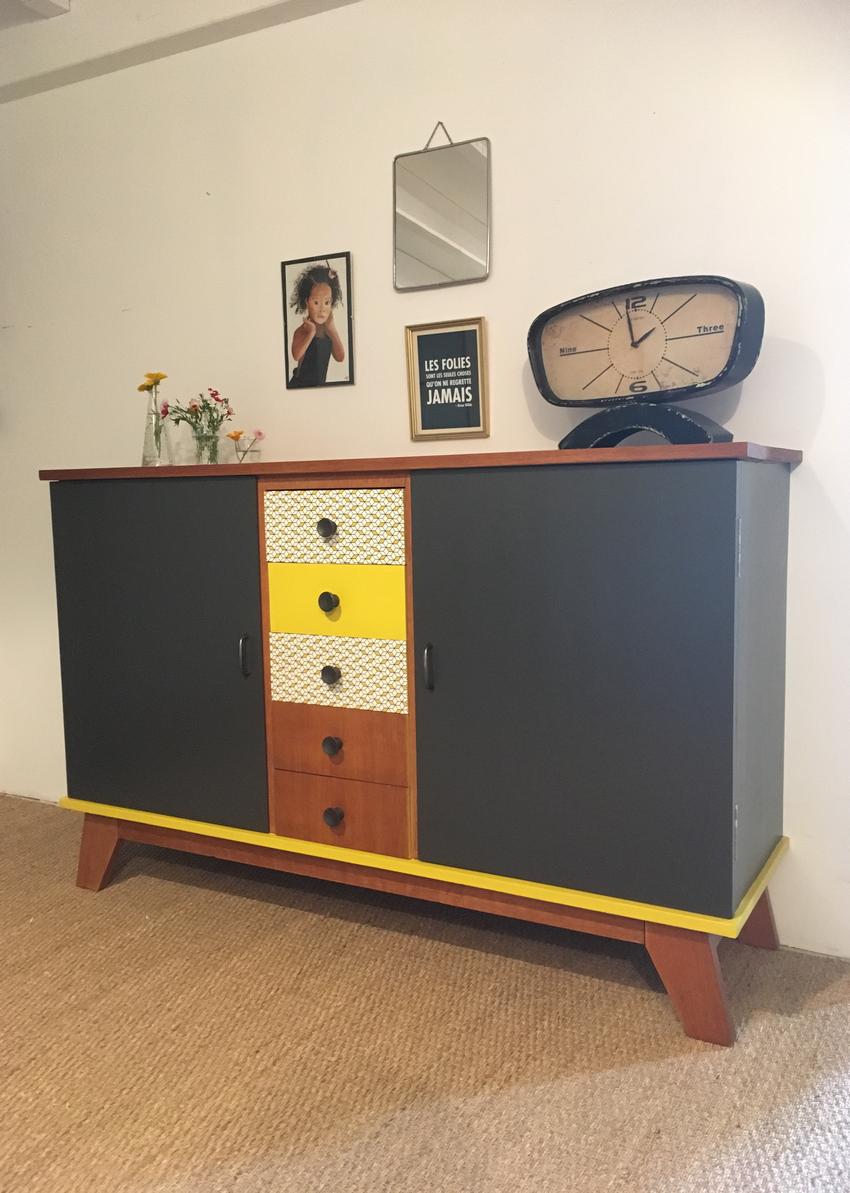 buffet vintage agathe 2 restauration de meubles par lilibroc. Black Bedroom Furniture Sets. Home Design Ideas