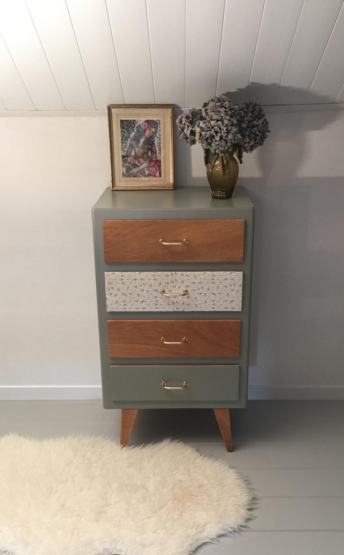 chiffonnier vintage marlo meubles vintage relook s par lilibroc. Black Bedroom Furniture Sets. Home Design Ideas
