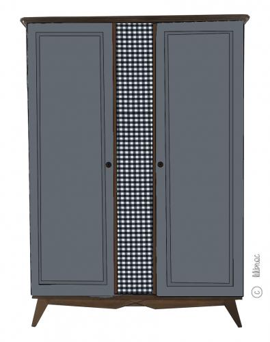 Armoire vintage Alice – Croquis de relooking