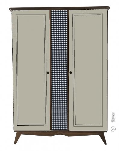 Armoire vintage Alice croquis 9