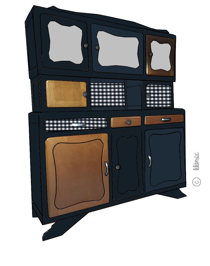 Buffet vintage Alphonse – Croquis de relooking