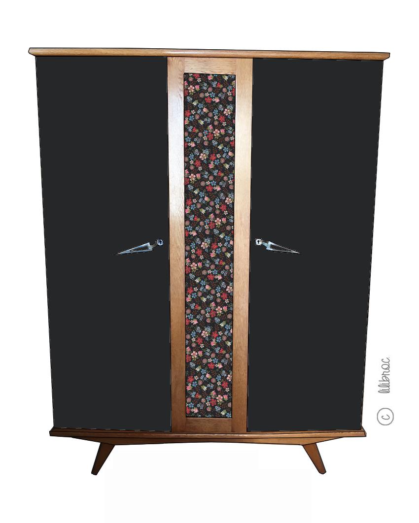Armoire vintage Romie – Croquis de relooking