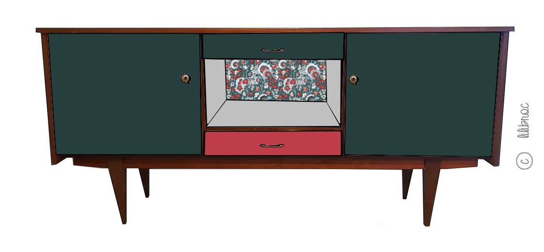 enfilade vintage justine croquis de relooking restauration de meubles nantes. Black Bedroom Furniture Sets. Home Design Ideas