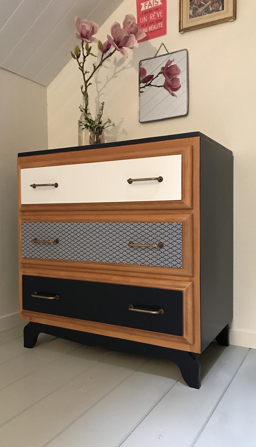 commode vintage louisa relooking de meubles vintage nantes. Black Bedroom Furniture Sets. Home Design Ideas