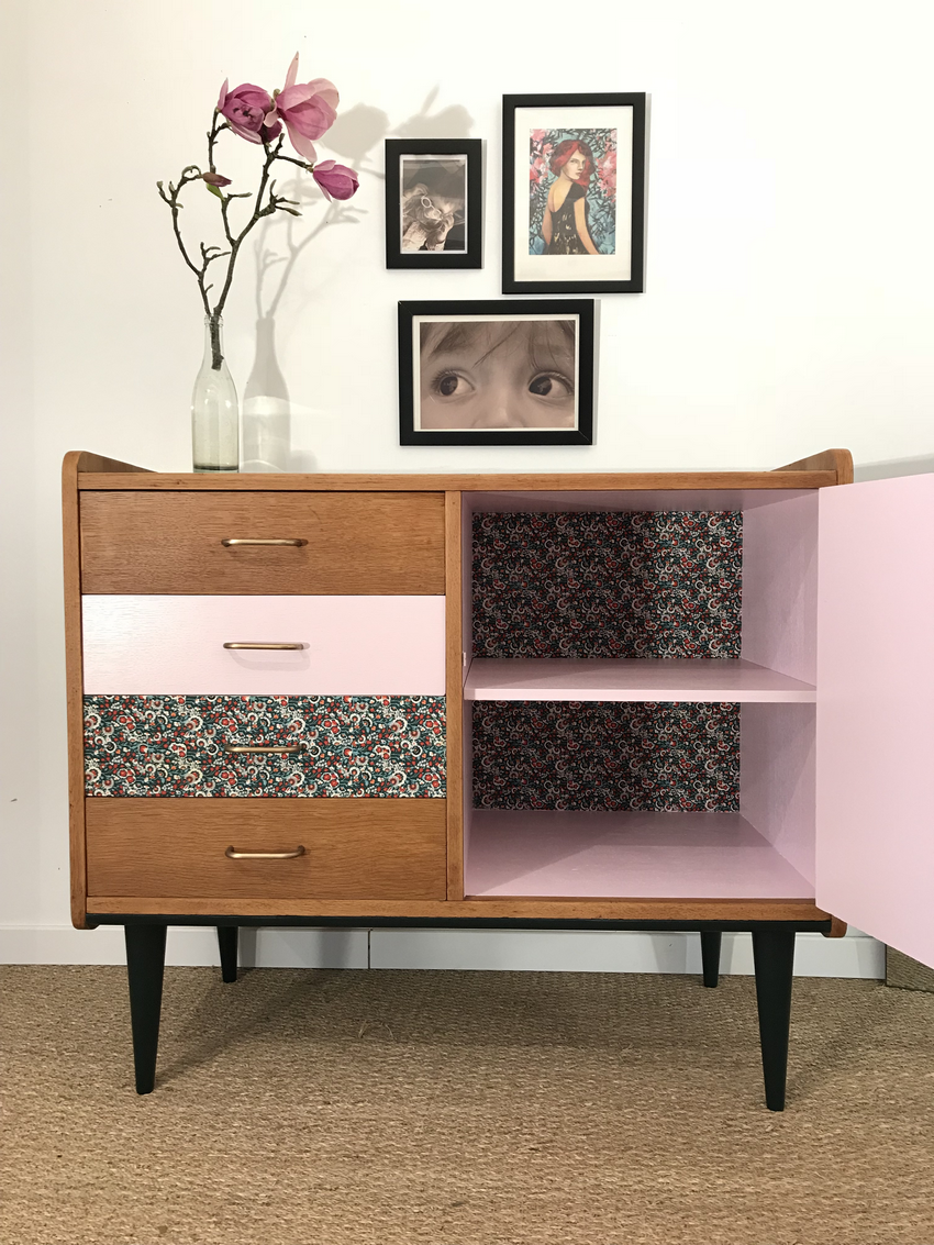 commode vintage eliette relooking de meubles meuble personnalis. Black Bedroom Furniture Sets. Home Design Ideas