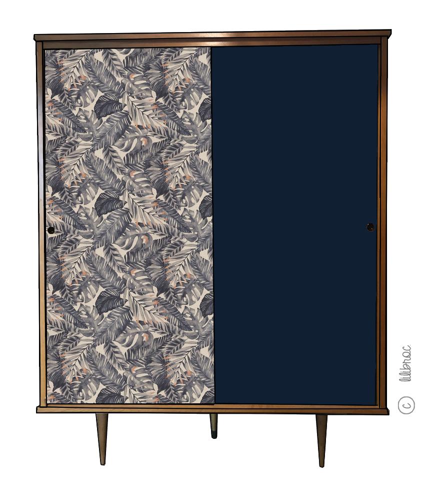 Armoire vintage Faustine – Croquis de Relooking