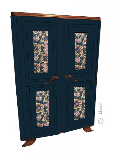 Armoire vintage Auriane – Croquis de relooking
