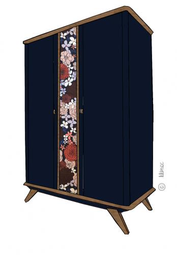 Armoire vintage Victoire – Croquis de relooking