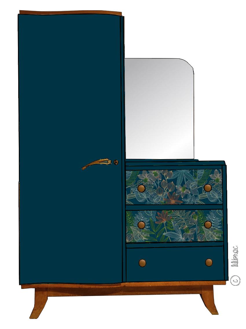 Armoire vintage Violaine personnalisable