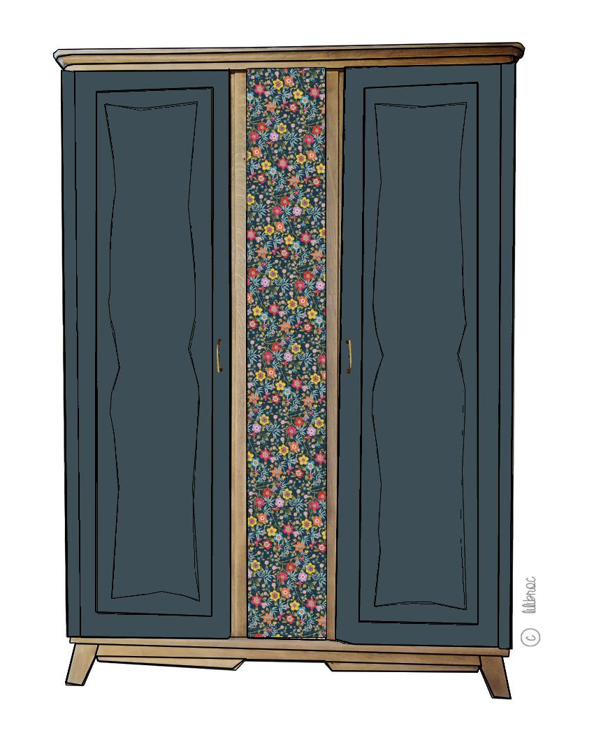 Armoire vintage Charlie – Personnalisable