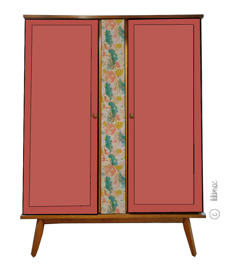Armoire vintage Mia – Personnalisable