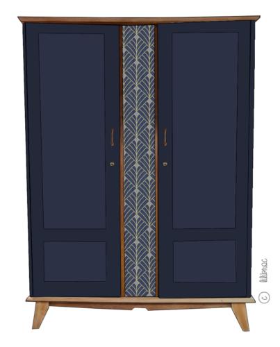 Armoire vintage Rosa – Personnalisable