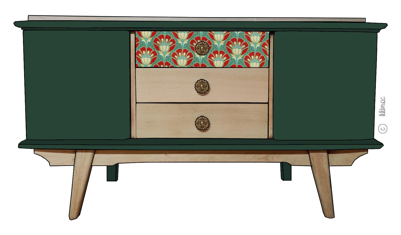 Petit meuble TV Rubens – Personnalisable