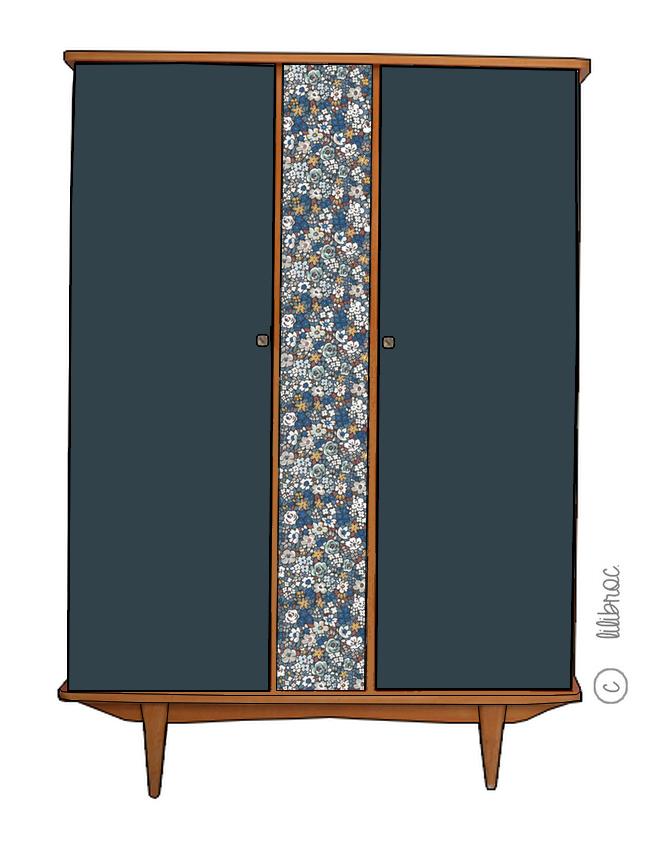 Armoire vintage Alma – personnalisable