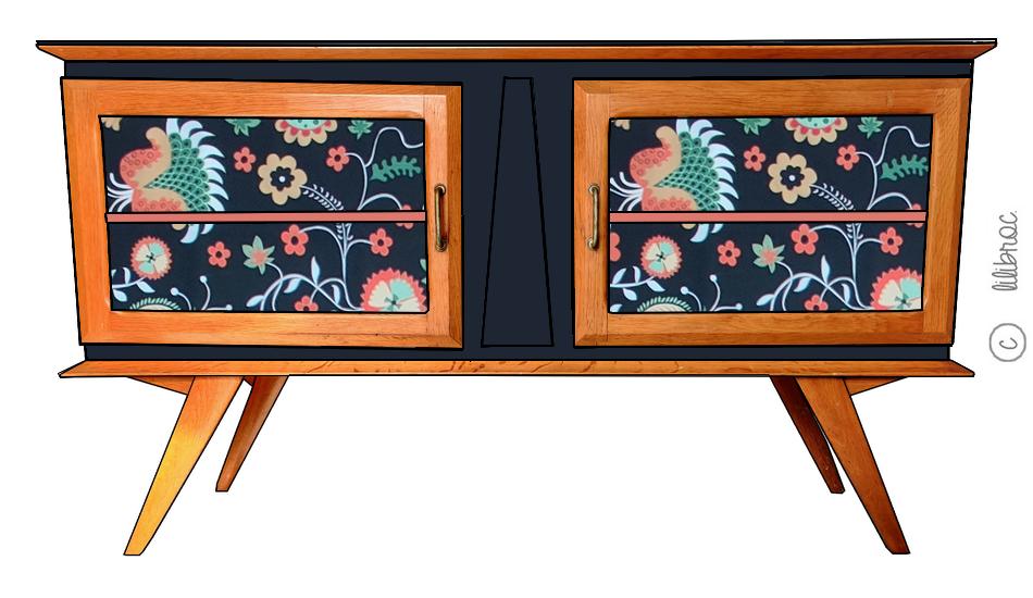 Meuble TV vintage Grégoire – Personnalisable
