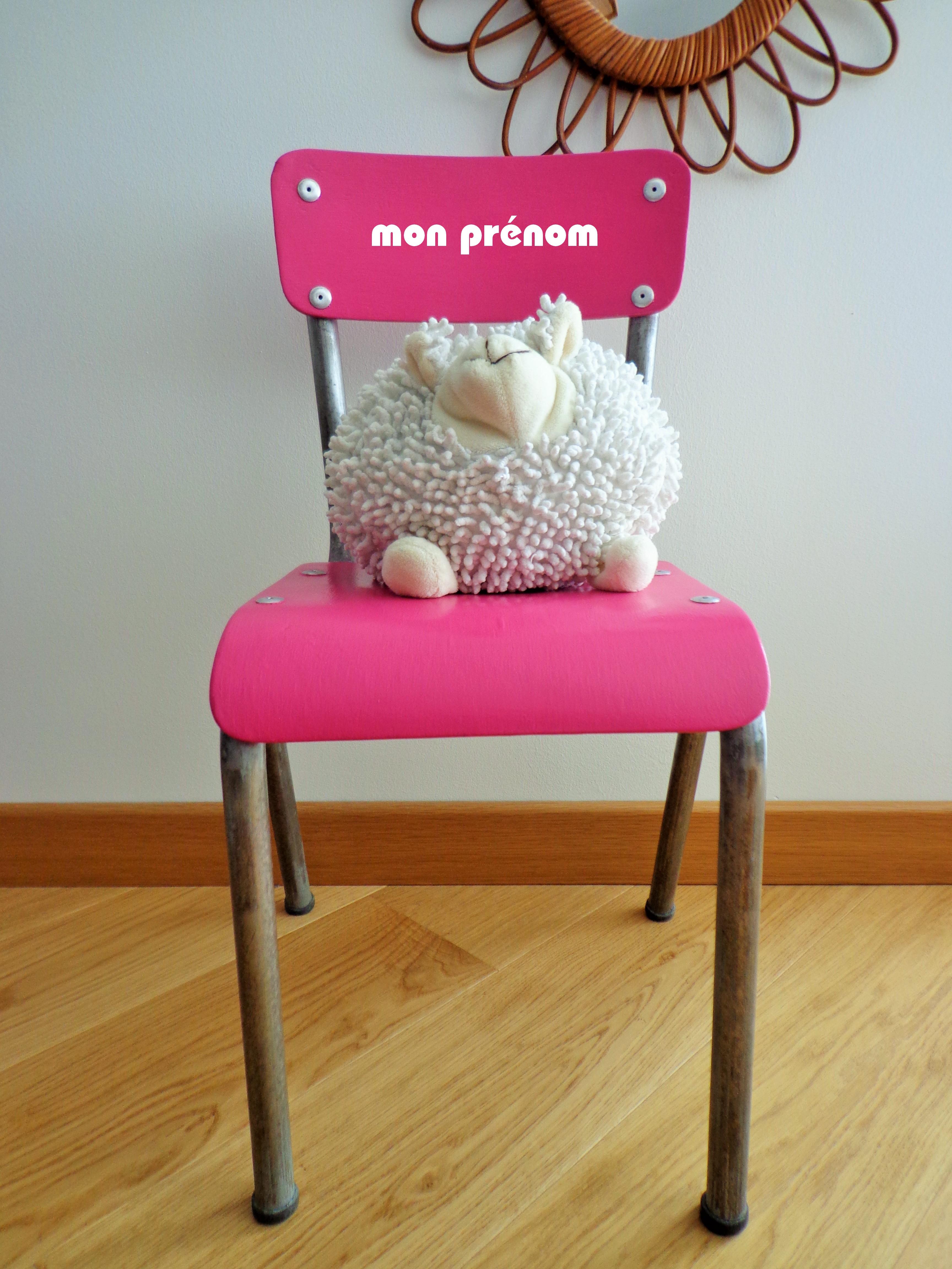 Chaise enfant personnalisable «Lili-Rose»