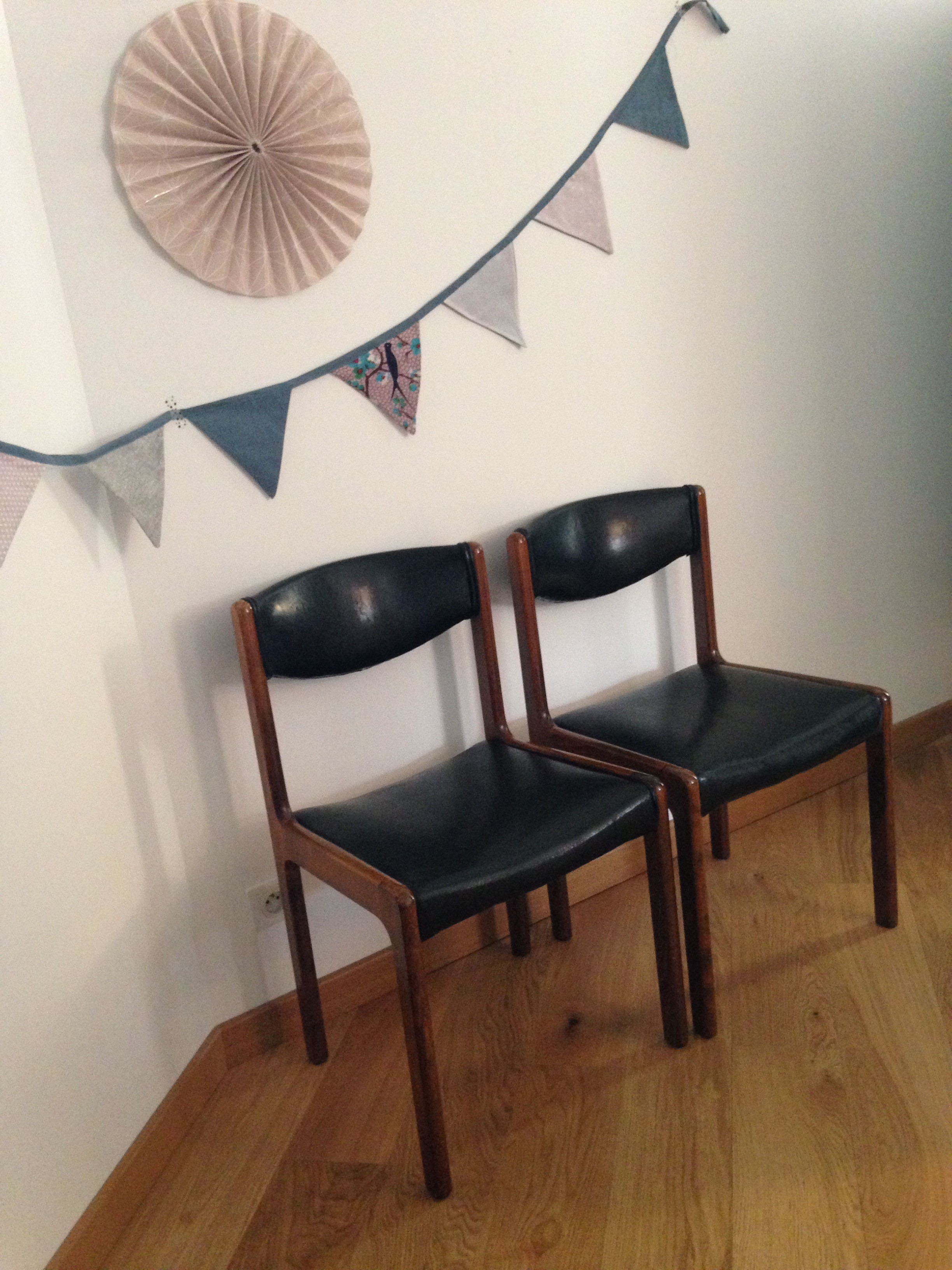 Paire de chaises vintages «Josephine»