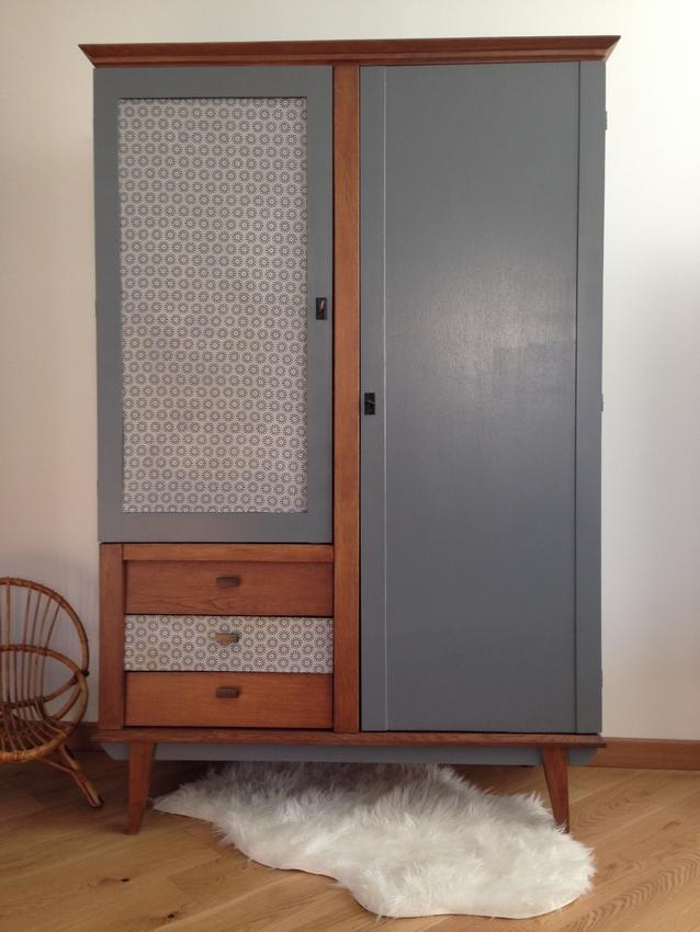 Armoire vintage design scandinave «Chiara»
