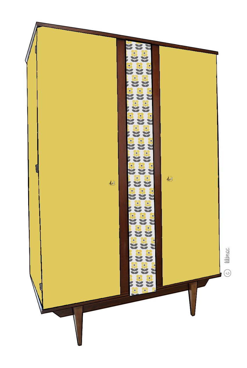 Armoire vintage Luce – Croquis de relooking