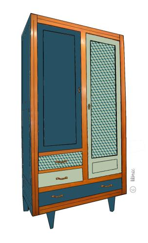 Armoire vintage Charlotte croquis 3