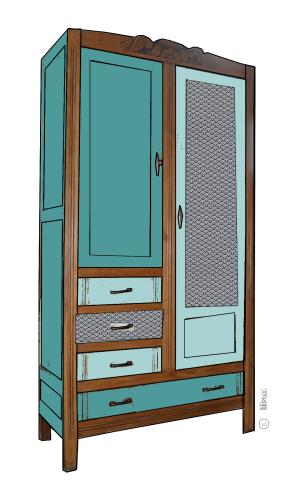 armoire vintage Maëlle croquis de relooking 10