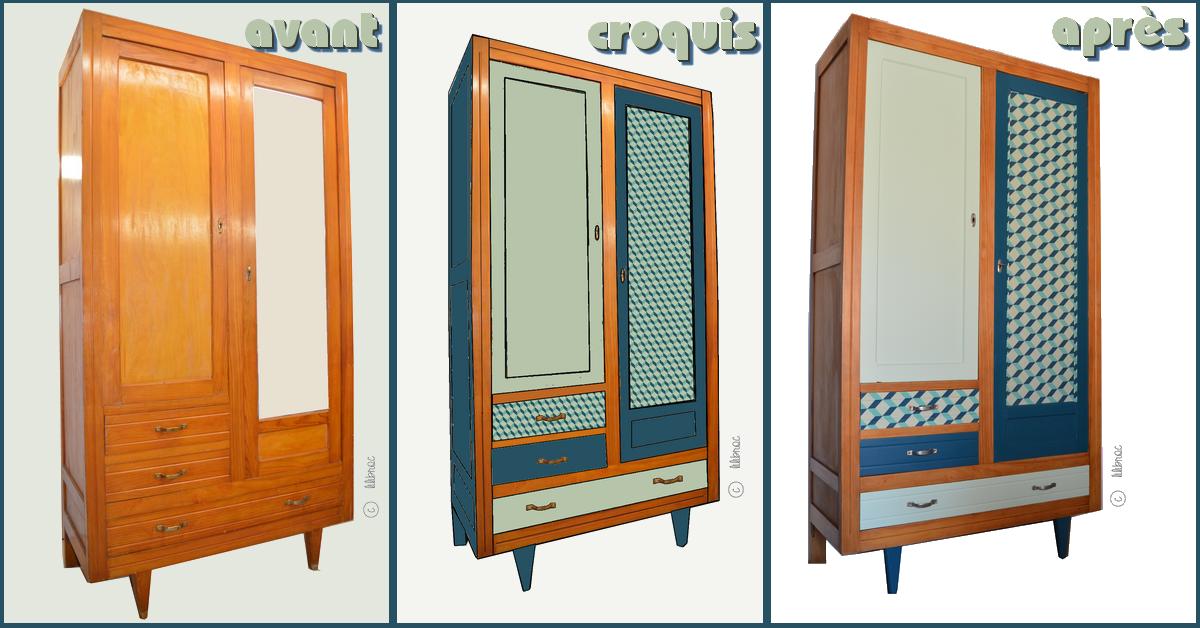 personnalisez votre meuble vintage relooking de meubles. Black Bedroom Furniture Sets. Home Design Ideas