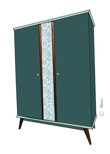 Armoire vintage Zélie croquis 5